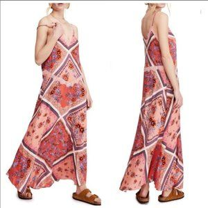 Free People Stevie Floral Lace Trim Maxi Dress NWT